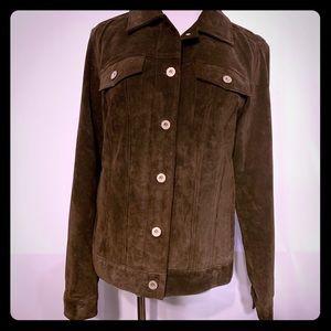 Eddie Bauer suede leather jacket size medium